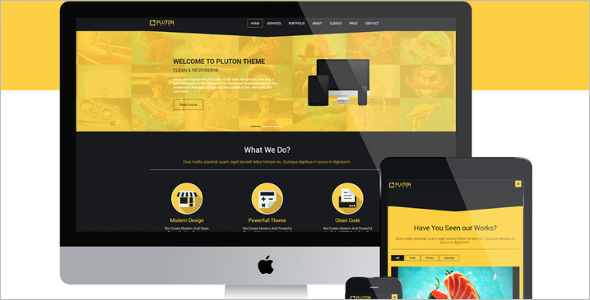 Free Single Page Bootstrap Website Template