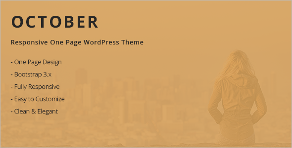 Freelancers One page WordPress Template