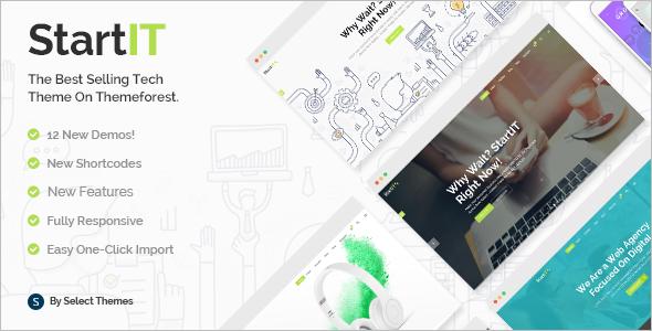 Fresh Startup Business WordPress Template