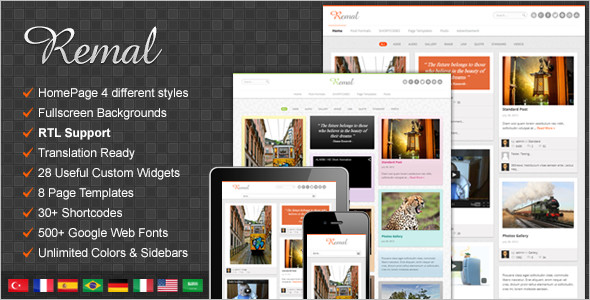 FullScreen Pinboard WordPress Template