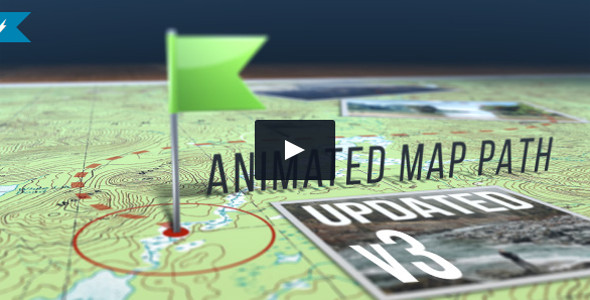 Fully Customizable Animated Map Video