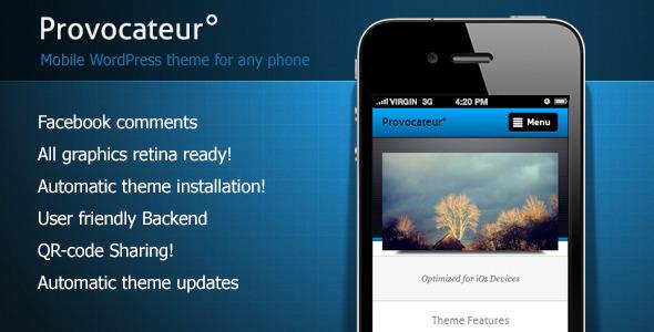 Fully Customizable Mobile WordPress Theme
