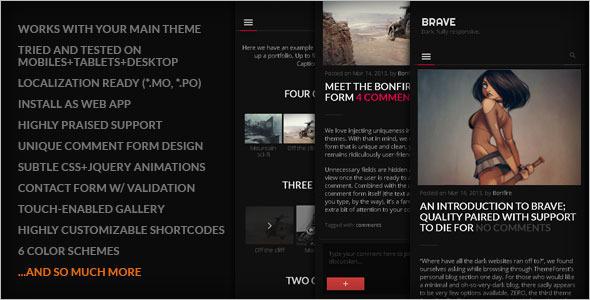 Fully Dark Mobile Friendly WordPress Theme