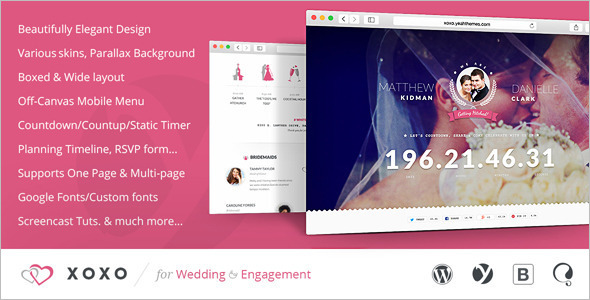 Fully Elegant Wedding WordPress Theme