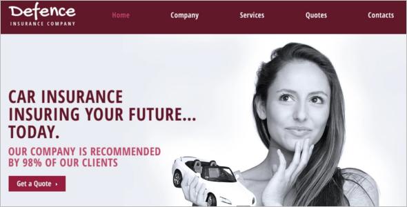 Furture Insurance Website Template