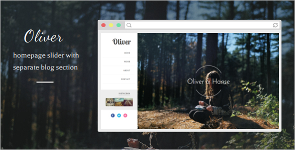 Gallary Blogger Website Template