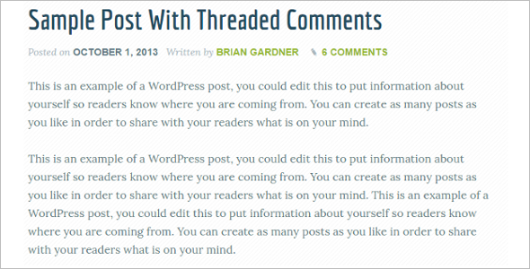 Genesis Post WordPress Template