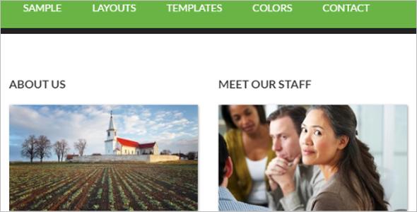 Genesis layout WordPress Template