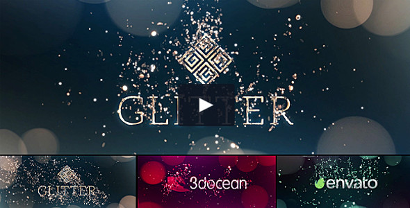 Glitter Particles Animated Logo Pack