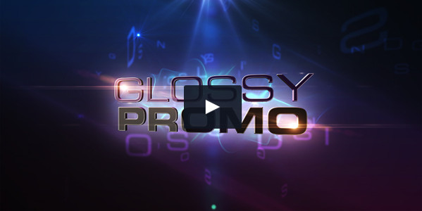 Glossy Promo Shiny 3D Text Video Template
