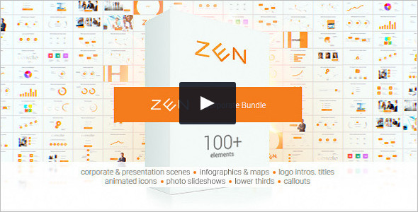 HD Zen Presentation Bundle Infographics Video