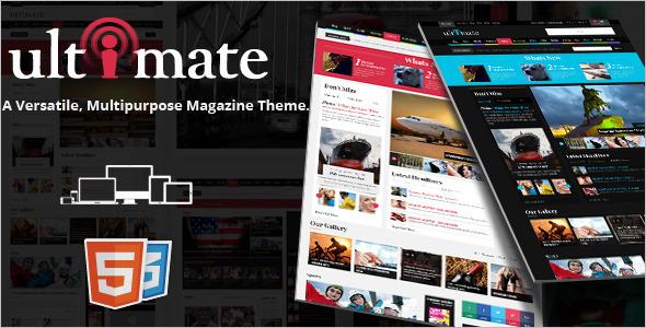 HTML Entertainment Magazine Template W