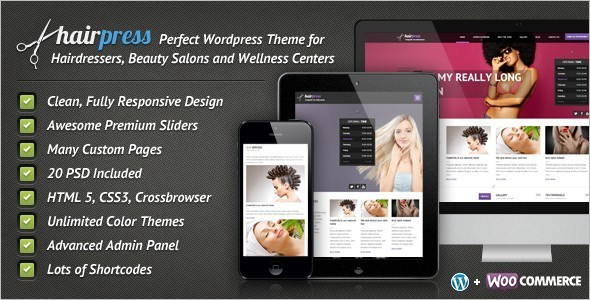 Hair Salons Business WordPress Template