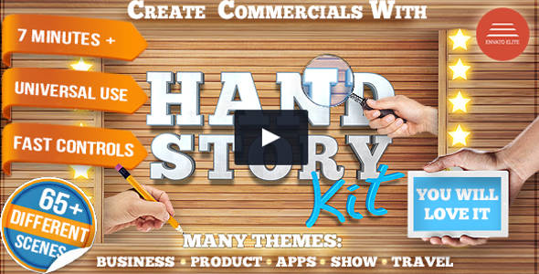 Hand Explainer Commercial Product Promo Openers Video
