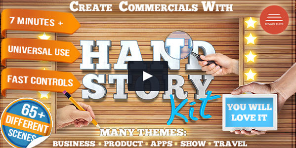 Hand Explainer Commercial Promo Video Template