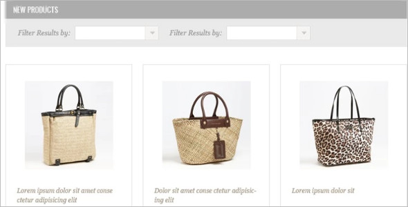Handbag Boutique Website Template