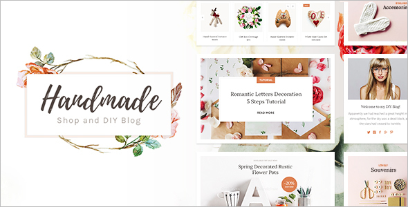 Handicraft WooCommerce WordPress Template