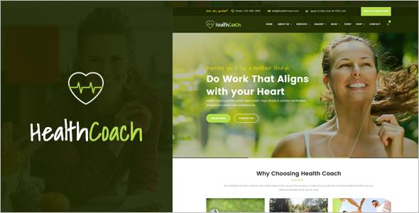 Health Coach WordPress Website Template