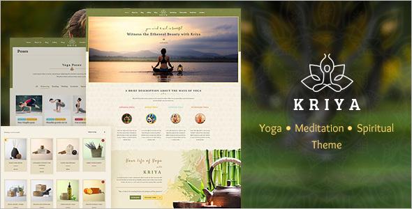 Healthy Yoga Website Template