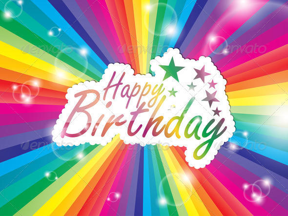 High Resolution happy birthday template