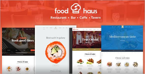 Hotel Food WordPress Template