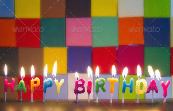 Illuminated Happy Birthday Elegant HD Background