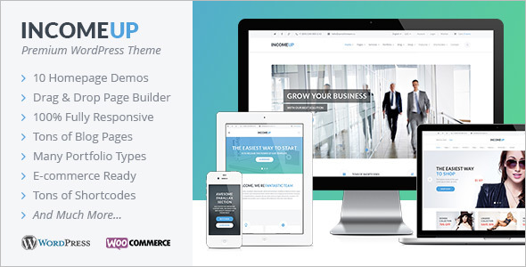 InicomeUp WordPress Template