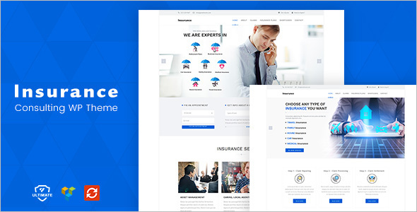 Insurance Consulting Website Template