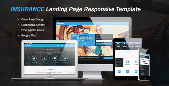Insurance LandingPage Website Template