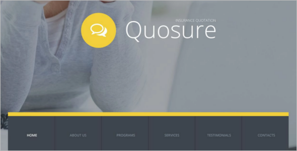 Insurance Website Design Template