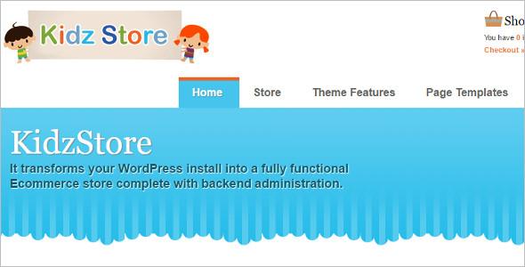 Kid Store shopping WordPress Template