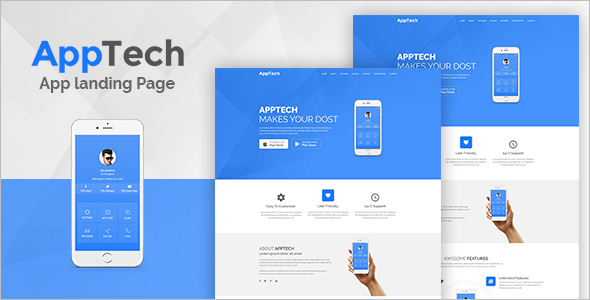 Landing Page Single WordPress Template