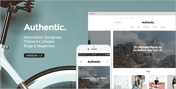 Lifestyle Blog WordPress Template