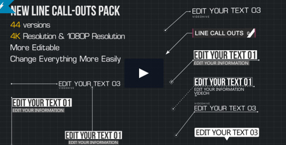Line Call-Outs Pack Infographic Type Video