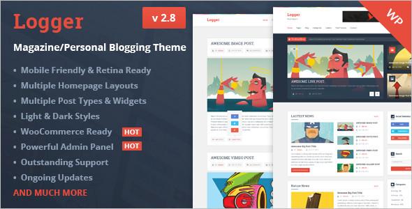 Logger Flat Blog WordPress Template