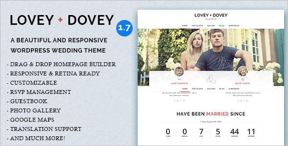 Lovey Wedding WordPress Template