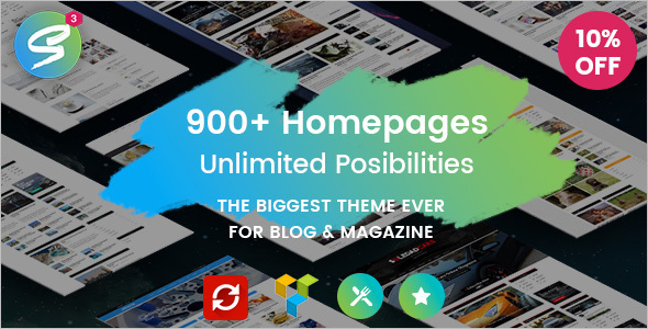 Magazine Blog Sell WordPress Template