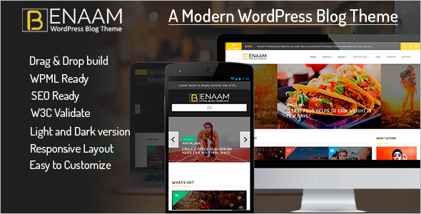 Magazine Blog WordPress Template