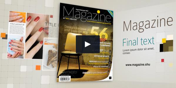 Magazine Layout Customizable Video Promo
