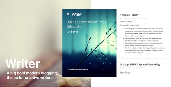 Magazine Personal WordPress Template