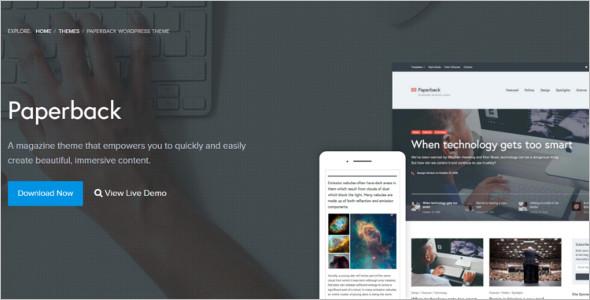 Magazine Typography WordPress Template