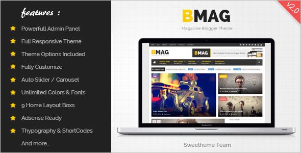 Magzine Blogger Website Template