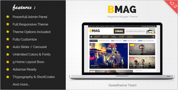 Main Magazine Blogger Template