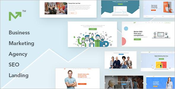Marketing Landing Page WordPress Template