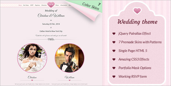 Marriage Event WordPress Template