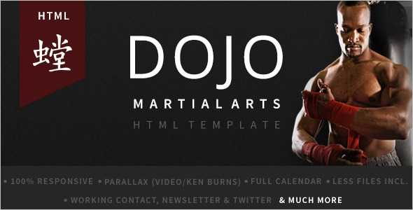 Martial Arts Retail WordPress Template