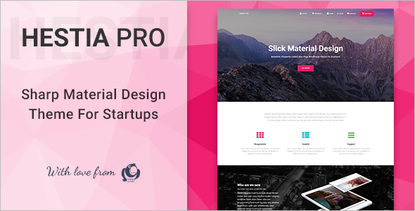 Material Design WordPress Template