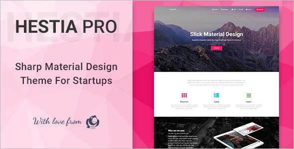 Material Design WordPress Template