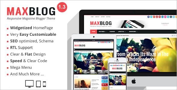 MaxMagazine Blogger Template