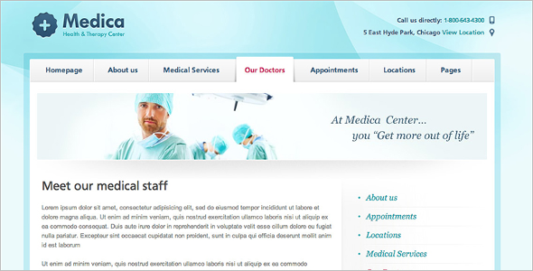 Medical Care Center WordPress Template